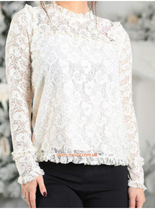 Блузка гипюровая с рукавом