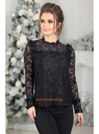 Блузка гіпюрова з рукавом