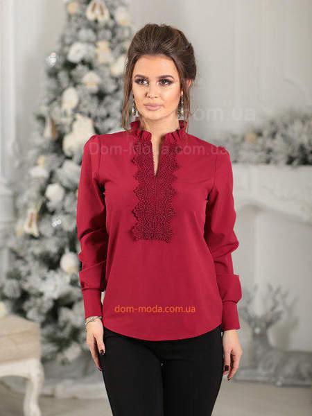 Батистовая блузка с рукавами
