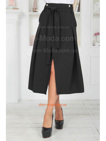 Модная женская юбка миди с запахом