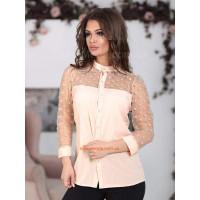 Нарядная женская блузка в горошек