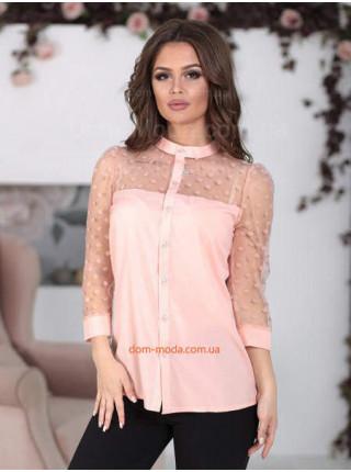 Нарядна жіноча блузка в горошок