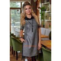 Модна жіноча туніка плаття з накидкою