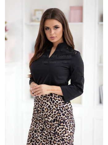 Модная женская блузка с рукавом три четверти