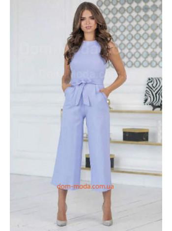 Женский комбинезон с широкими брюками на лето