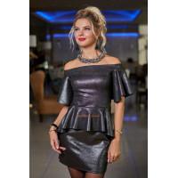Блестящее платье вечернее с открытыми плечами