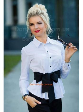 "Біла жіноча блуза з поясом ""Кіола"""