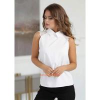 Стильная женская блуза без рукав на лето