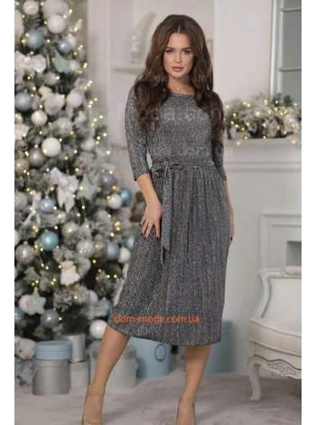 Вечернее платье плиссе с люрексом