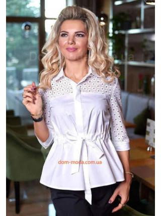 Красивая приталенная рубашка женская
