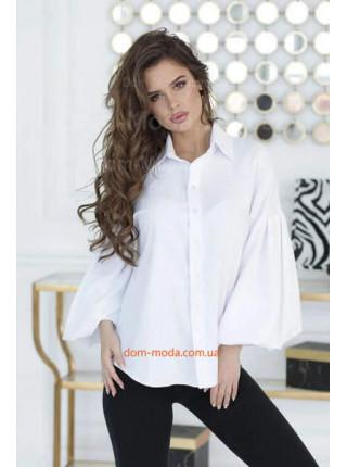 Женская рубашка с объемными рукавами