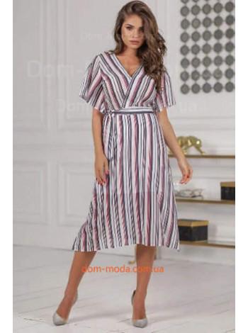 Женское модное платье в полоску для лета