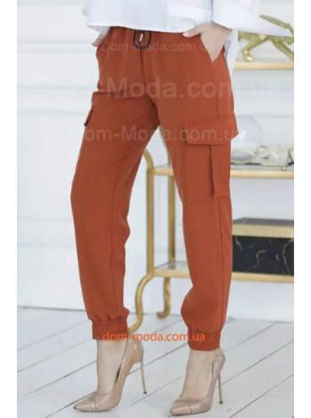 Штани карго з резинкою внизу жіночі