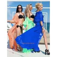 Модная длинная туника для пляжа
