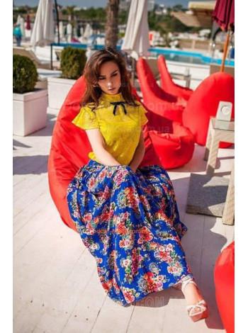 Кружевная желтая блузка для женщин
