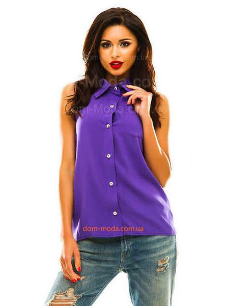 Летняя женская рубашка безрукавка