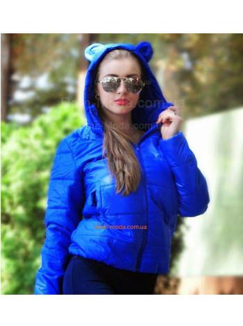 """Жіноча модна коротка куртка із вушками """"Мікі"""""""