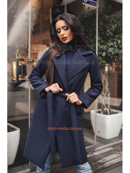 Купити. Жіноче модне пальто за коліно із поясом