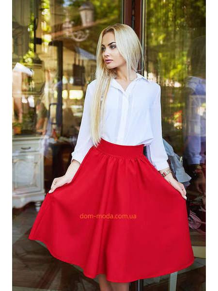 """Летняя стильная юбка миди """"Солнце клеш"""""""