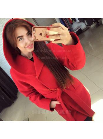 """Женское короткое пальто с капюшоном """"Монреаль"""""""