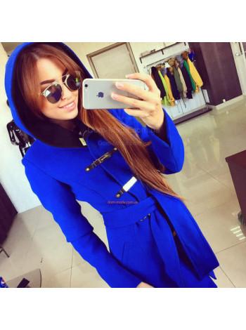 """Женское стильное пальто с капюшоном """"Бонус"""""""