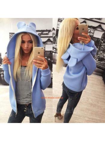 Модная женская куртка с ушками