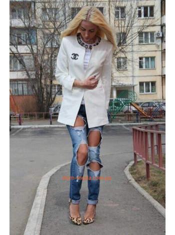 Женский модный пиджак удлиненный