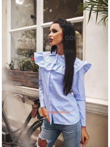 """Женская модная рубашка с рюшами """"Август"""""""