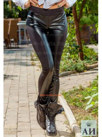 Черные лосины женские с начесом