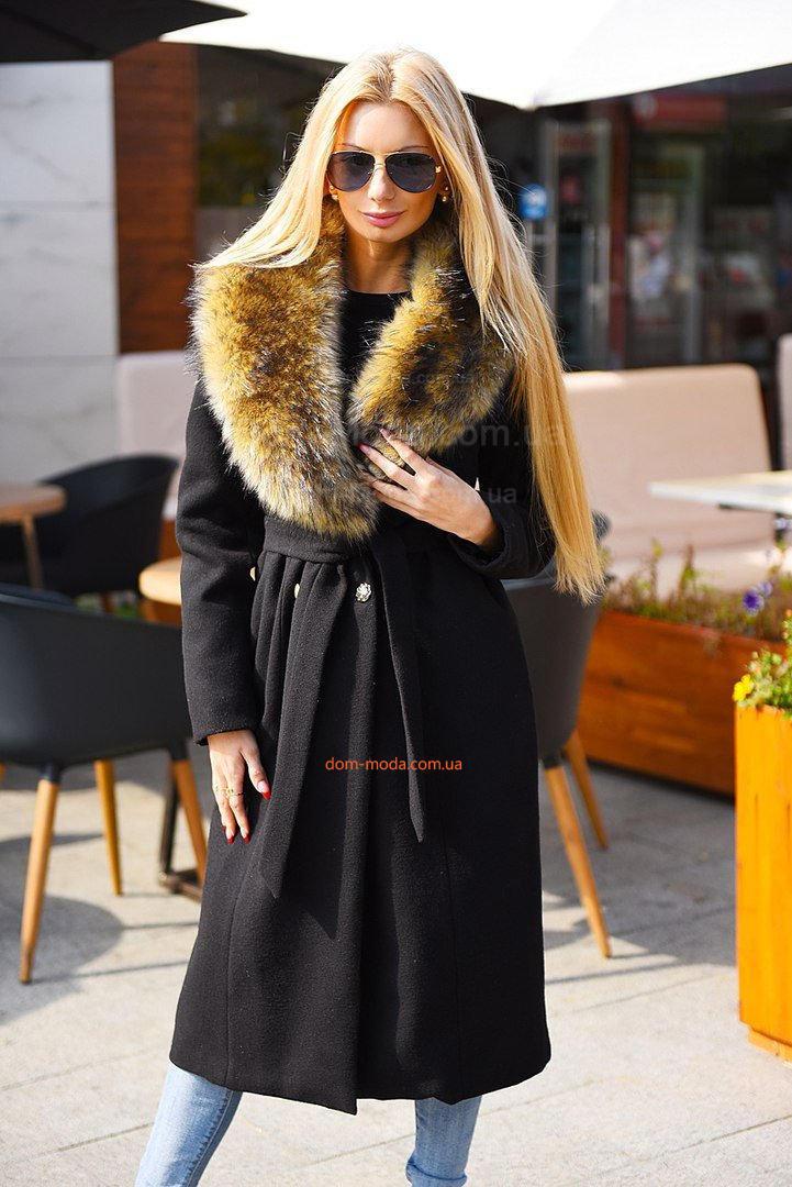 Стильное зимнее пальто с мехом купить